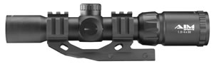 Aim Sports JTMR2 Recon 1.5-4x 30mm Obj 36.6 ft @ 100 yds FOV 30mm Tube Dia Black Matte Illuminated Mil-Dot
