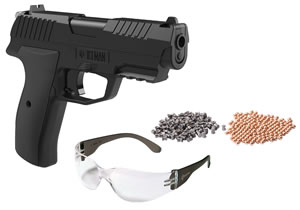 Crosman CCICE7BKT Iceman Air Pistol Kit Repeater .177 BB Black