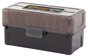 Caldwell 397623 AR-15 Magazine Charger Ammo Box AR-15 223 Rem/5.56 NATO/204 Ruger 50 rd Polymer Translucent Black