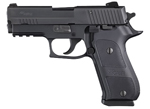 "Sig Sauer P220 Carry Elite Dark Pistol 220R3-45-DSE, Carry, 45 ACP, 3.9"" Barrel, SRT DA/SA, Custom Aluminum Grips, Nitron Slide/Black Hard Anodized Frame Finish, 8 + 1 Rd"