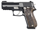 "Sig Sauer P220 Carry Equinox Pistol 220R3-45-EQ, Carry, 45 ACP, 3.9"" Barrel, DA/SA, Custom Wood Grips, Nitron Slide/Black Hard Anodized Frame Finish, 8 + 1 Rd"