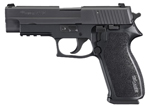 "Sig Sauer P220 Pistol 220R-45-BSS, Full Size, 45 ACP, 4.4"" Barrel, DA/SA, Black Polymer Grips, Nitron Slide/Black Hard Anodized Frame Finish, 8 + 1 Rd, w/ SIGLITE Night Sights"