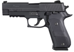 "Sig Sauer P220 Elite Dark Pistol 220R-45-DSE, Full Size, 45 ACP, 4.4"" Barrel, SRT DA/SA, Custom Aluminum Grips, Nitron Slide/Black Hard Anodized Frame Finish, 8 + 1 Rd"