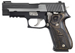"Sig Sauer P220 Equinox Pistol 220R-45-EQ, Full Size, 45 ACP, 4.4"" Barrel, DA/SA, Custom Shop Wood Grips, Nitron Slide/Black Hard Anodized Frame Finish, 8 + 1 Rd"
