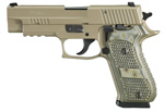 "Sig Sauer P220 Scorpion Pistol 220R-45-SCPN, Full Size, 45 ACP, 4.4"" Barrel, DA/SA, Hogue G10 Piranha Grips, Flat Dark Earth Finish, 8 + 1 Rd"