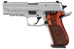 "Sig Sauer P220 Elite Stainless Pistol 220R-45-SSE, Full Size, 45 ACP, 4.4"" Barrel, SRT DA/SA, Custom Rosewood Grips, Natural Stainless Finish, 8 + 1 Rd"