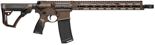 "Daniel Defense DDM4V7 Rifle 02-128-02338-047, 223 Rem/5.56, 16"" BBL, MIL-SPEC+ Cerakote Dark Brown Finish, 30 Rd"