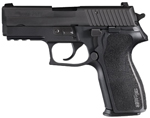 "Sig Sauer P227 Carry Nitron Pistol 227R3-45-BSS, Carry-Size, 45 ACP, 3.9"" Barrel, DA/SA, One-Piece Polymer Grips, Nitron Slide/Black Anodized Frame Finish, 10 + 1 Rd, SigLite Night Sights"