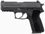 "Sig Sauer P229 Pistol 229R-9-BSS, 9 mm, 3.9"" Barrel, DA/SA, Black Polymer Factory Grips, Nitron Slide/Black Anodized Frame Finish, 10 + 1 Rd, SigLite Night Sights"