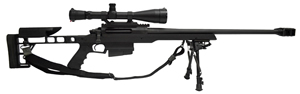 Armalite AR30A1 STD Rifle 30A1B300, 300 Win Mag, 24 in Chrome Moly BBL, Bolt Action, Fixed Stock, Black Finish, 5 Rd