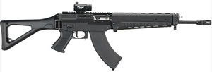 Sig Sauer Model 556 Russian Rifle R556762R16B, 7.62 x 39mm, 16 in, Semi Auto, Adj Buttstock, Black Finish, 30 Rds, w/Red Dot Sight