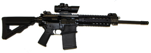 Sig Sauer Model 716 Patrol Rifle R71616BP, 7.62 x 51 mm, 16 in, Semi Auto, Magpul PMAG Stock, Black Finish, 20 Rds, ACS w/Sig CP1 Red Dot Scope