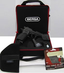 Bersa Thunder 380 Pistol Kit T380MLLKIT, 380 ACP, 3.5 in, Black Poly Grip, Blue Finish, 7 + 1 Rd, w/Laserlyte, Case, Holster
