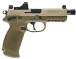 FN Herstal FNX-45 Tactical Pistol 66968, 45 ACP, 5.3 in, Poly Grip, Flat Dark Earth Finish, 15 + 1 Rd, Night Sights