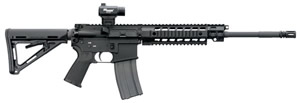 Sig Sauer Model 516 Quad Rifle R516BPCA, 223 Rem/5.56 NATO, 16 in, Semi Auto, Adj Stock, Blk Finish, 10 + 1 Rds, Bullet Button, CA Approved