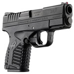 Springfield Model XDS Pistol XDS9339B, 9 mm, 3.3 in, Black Finish, Fiber Optic Front Sight, 7 Rd