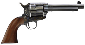 Taylors 1873 Cattleman Gunfighter Revolver 5001, 45 LC, 5.5 in, 6 Rd, Walnut Grip, Blue Finish