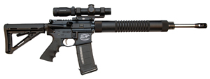Colt Competition CR Expert Rifle CRE18, 223 Rem, 18 in, Magpul MOE Stock, Blk Finish, 30 Rd, Match Trig, 1:8, Hogue Grip, Free Float Tube