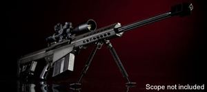Barrett Model 82A1 .50 BMG Rifle System 13316, .50 BMG, Semi-Auto, 29 in Barrel, Black Finish, Monopod, 10 Rd