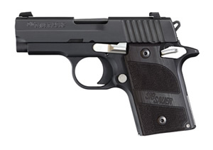 Sig Sauer Model P938 Nightmare Pistol 9389NMRAMBI, 9mm, 3 in, G-10 Grips, Black Finish, Night Sights, 6+1 Rd, Ambi Safety
