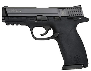 Smith & Wesson Model M&P 22 Pistol 122002, 22 Long Rifle, 4.1 in, Polymer Grip, Black Finish, 9+1 Rd, CA Approved