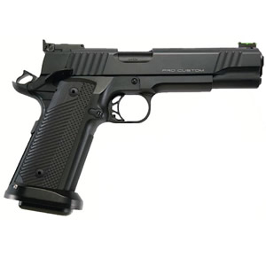 Para Ordnance Pro Custom Pistol 96709, 9mm, 5 in Stainless Match BBL, VZ G10 Grip, Black Finish, Adj Target Sights, 18+1