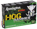 Remington Hog Hammer TSX Ammunition PHH223R4, .223 Remington, 62 Gr, TSX Boat Tail, 3100 FPS, 20Rds/10 Boxes, 200 Rds