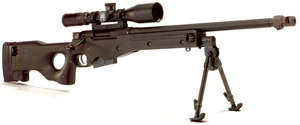 Accuracy International AE MKIII Sniper Rifle AEMKII308-24, 308 Win, Bolt-Action, 24 in Plain/Non Muzzle Break BBL, Blue Finish, 5 Rd