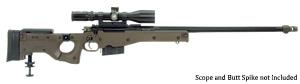 Accuracy International AW Sniper Rifle AW243-24, 243 Win, Bolt-Action, 24 in Plain/Non Muzzle Break BBL, Blue Finish, 10 Rd