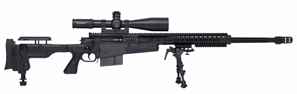 Accuracy International AX Sniper Rifle AX338, 338 Lapua Mag, Bolt-Action, 27 in Muzzle Break BBL, Folding Stock, Blue Finish, 5 Rd
