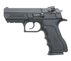 Magnum Research Baby Eagle II Pistol BE9400RSL, 40 S&W, 3.93 in Semi-Compact, Polymer Frame, Black Finish, 10 + 1 Rd, Rail
