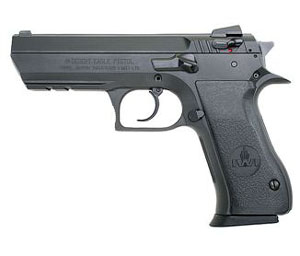 Magnum Research Baby Eagle II Pistol BE9413R, 40 S&W, 4.52 in, Full Size Steel Frame, Black Oxide Finish, 12 + 1 Rd, Rail