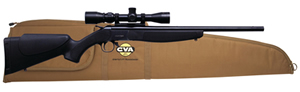 CVA Hunter Compact Rifle Package CR5110SC, 243 Win, 20 in BBL, Break-Open, Black Syn Stock, Blue Finish, w/Scope