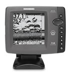 Humminbird 718 Fishfinder with transom mount transducer, 5 in LCD Display, 407380-1