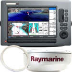 Raymarine C120W System Pack - C120W 12.1 in Display, RD418D, 10M Cable