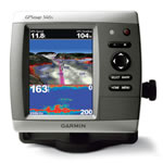 Garmin GPSMAP 546S Dual Frequency Chartplotter/Fishfinder Combo w/Transom Mount Transducer, Super-Bright 5 in VGA Color Display