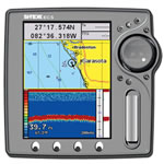 SI-TEX EC5EF Chartplotter w/ External Antenna & Fishfinder, 5 in QVGA Color LACD Display