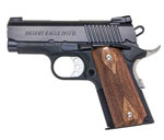 "Magnum Research Desert Eagle 1911 ""U"" Model (Undercover) Pistol DE1911U, 45 ACP, 3"" Bull Barrel, Wood Grips, Black Finish, 6 + 1 Rd"