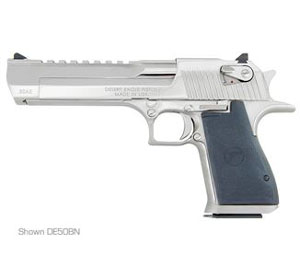 "Magnum Research Desert Eagle Mark XIX Pistol DE44BN, 44 Magnum, 6"" Barrel, Semi-Auto, Single Action, Formed Grips, Bright Nickel Finish, 8 + 1 Rd"