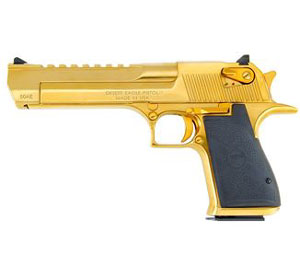 "Magnum Research Desert Eagle Mark XIX Pistol DE50TG, 50 AE, 6"" Barrel, Semi-Auto, Single Action, Formed Grips, Titanium Gold Finish, 7 + 1 Rd"
