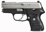 "Sig Sauer P224 Nickel Pistol 224-357-NSS, Carry, 357 Sig, 3.5"" Barrel, DA/SA, Hogue Custom G10 Grips, Nickel Slide/Black Hard Anodized Frame Finish, 10 + 1 Rd"