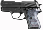 "Sig Sauer P224 Extreme Pistol 224-40-XTM-BLKGRY, Carry, 40 S&W, 3.5"" Barrel, SRT DA/SA, Hogue Extreme Piranha G-10 Grips, Nitron Slide/Black Hard Anodized Frame Finish, 10 + 1 Rd"
