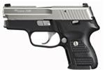 "Sig Sauer P224 Nickel Pistol E24-9-NSS, Carry, 9 mm, 3.5"" Barrel, DA/SA, Hogue Custom G10 Grips, Nickel Slide/Black Hard Anodized Frame Finish, 12 + 1 Rd"