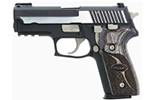 "Sig Sauer P229 Equinox Pistol E29R-40-EQ, 40 S&W, 3.9"" Barrel, DA/SA, Custom Shop Wood Grips, Nitron Slide/Black Anodized Frame Finish w/ Nickel Accents, 12 + 1 Rd"