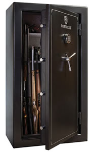Heritage Fortress FS36 Gun Safe, Free Shipping to Curb, 36-Gun Capacity, 33W x 60H x 20D, 560 Lbs, Electronic Lock, Marble Gray