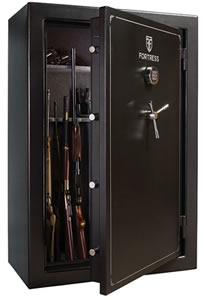 Heritage Fortress FS45S Lil Chubby Gun Safe, Free Shipping to Curb, 45-Gun Capacity, 40W x 60H x 22D, 680 Lbs, Electronic Lock, Marble Gray