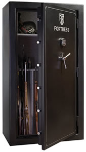 Heritage Fortress FS60 Gun Safe, Free Shipping to Curb, 60-Gun Capacity, 40W x 72H x 25D, 800 Lbs, Electronic Lock, Marble Gray