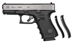 Glock  Model 19 G4 Generation 4 Pistol PG1950203, 9mm, 4.02 in, Polymer Grip, Matte Black Finish, 15 + 1 Rd, Fixed Sights