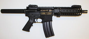 Spikes Tactical AR Pistol STP5081-R7S, 5.56 NATO, 8.1 in Fluted BBL, 30 Rd