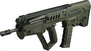 IWI Tavor SAR Bullpup Rifle TSG16, 5.56 Nato, 16 in BBL, Semi-Auto, Gas Piston, Syn Stock, OD Green Finish, 30 Rds